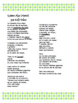 Spanish Poems-Poemas en Español-Two poems (only poems) (K-5)
