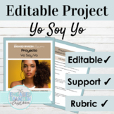 Editable Spanish Project | Yo Soy Yo Poetry Writing Assignment