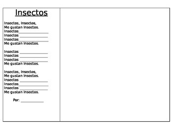 Spanish Poetry Frame Insectos de Familia