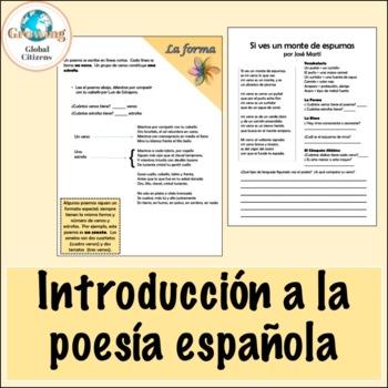 Spanish Poetry Introduction/ Introduccion a la poesia