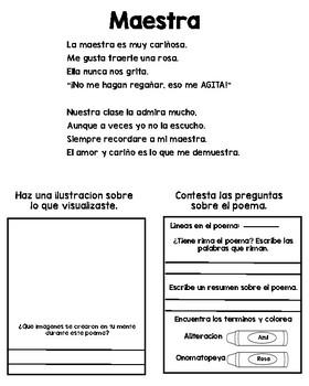Spanish Poetry Notebook/Cuaderno de poesia