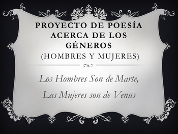 Spanish Poetry Project: Men Are From Mars, Women Are From Venus