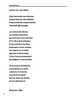 Spanish Poetry - Voces del silencio (Complete Collection of poems)