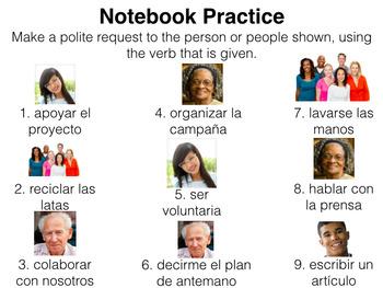 Spanish Polite Requests- Slideshow & Spoken/Written Activities