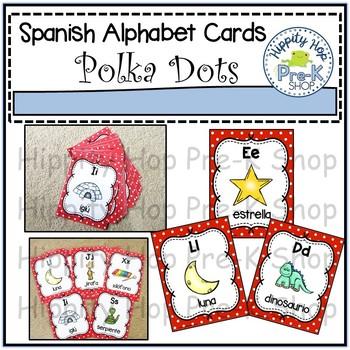 Spanish Polka Dot Alphabet Cards