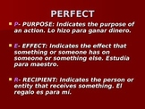 Spanish Por Vs. Para PowerPoint