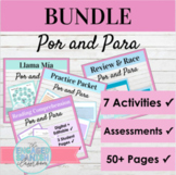 Spanish Por and Para Activity Bundle | Por vs. Para