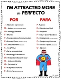 Spanish Por and Para Difference PICTURE Notes