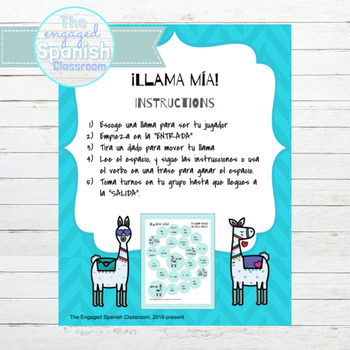 Spanish Por and Para Llama Mía Speaking Activity