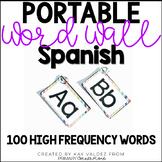 Spanish Portable Word Wall-100 High Frequency Words-EDITAB