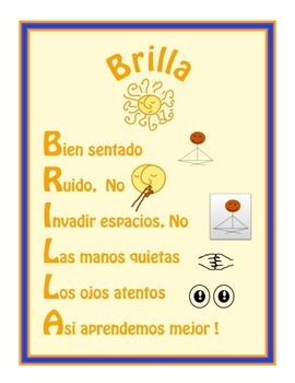 Spanish  Positive Reinforcement Chart