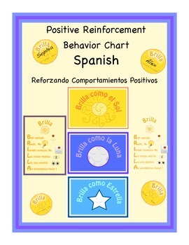Spanish  Positive Reinforcement Chart