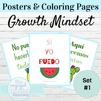 Spanish Positivity Classroom Posters and Coloring Pages