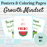 Spanish Growth Mindset Classroom Posters and Coloring Pages Set 1