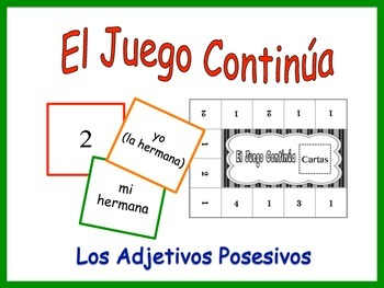 Spanish Possessive Adjective Activity for Groups