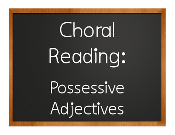Spanish Possessive Adjective Choral Reading