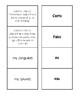 Spanish Possessive Adjective Matching Game