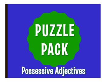 Spanish Possessive Adjective Puzzle Pack