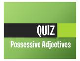 Spanish Possessive Adjective Quiz