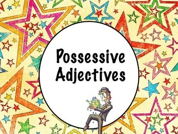 Spanish Possessive Adjectives BUNDLE- PowerPoint, Worksheets Pack, Keynote