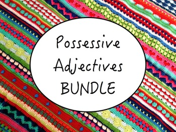 Spanish Possessive Adjectives BUNDLE- PowerPoint, Workshee