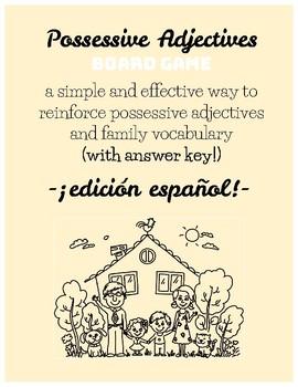 Spanish Possessive Adjectives Board Game