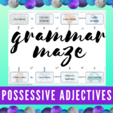 Spanish Possessive Adjectives   Grammar Maze   Digital & PDF