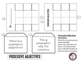 Spanish Possessive Adjectives Interactive Notebook Page