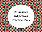 Spanish Possessive Adjectives Worksheets Practice Pack