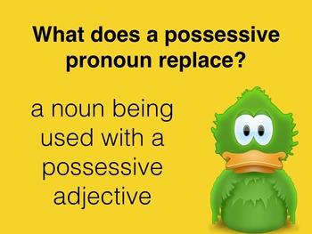 Spanish Possessive Pronouns PowerPoint Slideshow