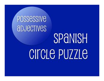 Spanish Possessive Adjective Circle Puzzle
