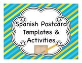 Spanish Postcard Templates & Activities