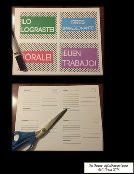 Spanish Postcards from Your Teacher - Neon Set