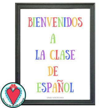 Spanish Poster - Bienvenidos a la Clase de Español