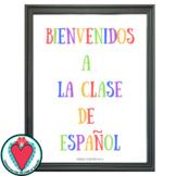 FREE Spanish Poster - Bienvenidos a la Clase de Español
