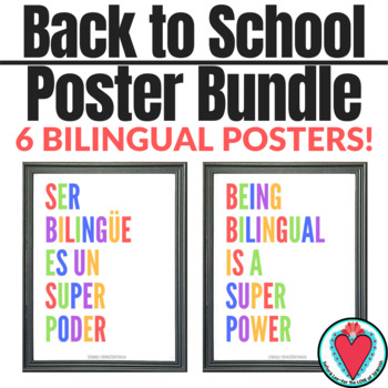 Spanish Poster Bundle - 6 Motivational Posters in Spanish & English