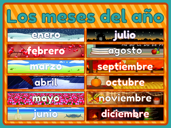 Spanish Poster - 'Los meses del año' Months of the Year Poster