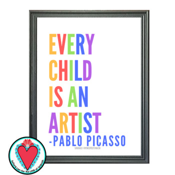Spanish Poster - Picasso Quote