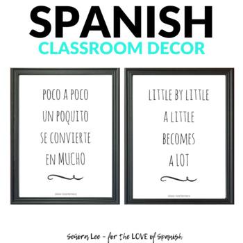 English Spanish Motivational Poster - Poco a poco