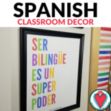 Spanish Poster - Being Bilingual is a Superpower #TeachMor