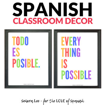 English Spanish Poster - Todo Es Posible