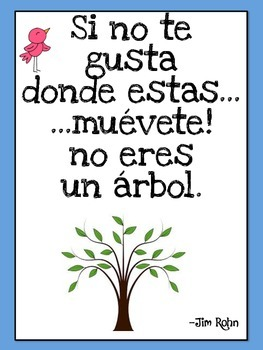 Spanish Posters- Saying/Dichos to live by