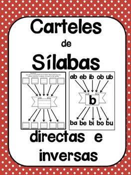 Spanish Posters for Syllables - Cartelones para las silabas