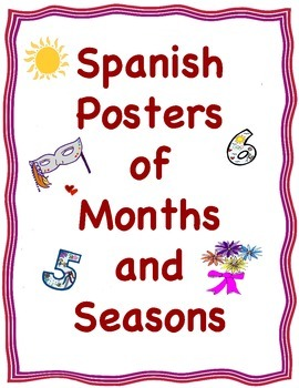 Spanish Posters/Cards of the Months and Seasons