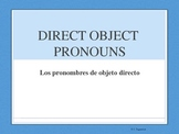 Spanish Powerpoint DIRECT OBJECTS - Part 2- Me,Te,Lo,La,No