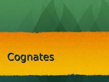 Spanish PowerPoint: Cognates