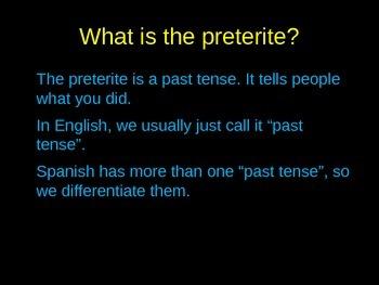 Spanish PowerPoint: El Preterito