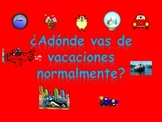 Spanish Teaching Resources. PowerPoint: Holiday destinations and transportation.