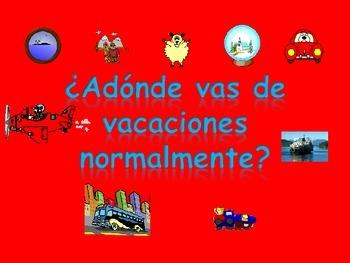 Spanish Teaching Resources. PowerPoint: Holiday destinatio