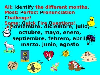 Spanish Teaching Resources. PowerPoint Presentation: The Months.